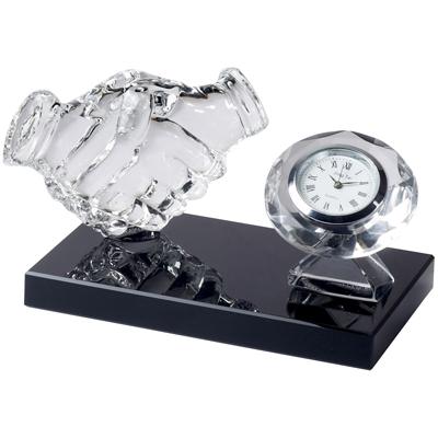 מעולה מעמד שולחני למשרד מזכוכית עם שעון - מעבר לרעיון GV-56